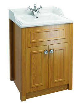 Burlington Classic Basin With Oak Vanity Unit