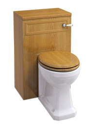 Burlington WC Unit Oak With Concealed Cistern