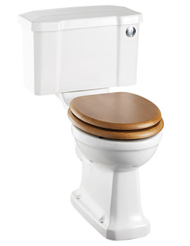 Burlington Regal Close Coupled WC With Front Button Cistern