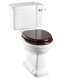 Regal Close Coupled WC Slimline With Ceramic Lever Cistern