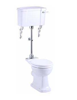 Burlington Regal Medium Level WC With White Ceramic Lever