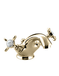 Bristan 1901 Gold Plated Basin Mixer Tap With Pop-Up Waste
