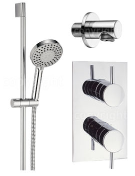 Crosswater Kai Lever Single Outlet Thermostatic Valve With 5 Mode Shower Kit And Wall Outlet
