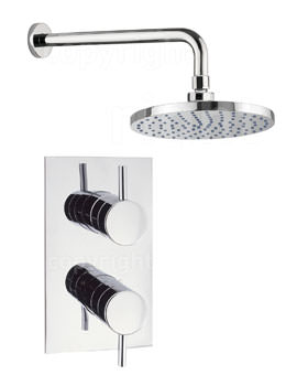 Crosswater Kai Lever Concealed Thermostatic Valve With Wall Shower Head