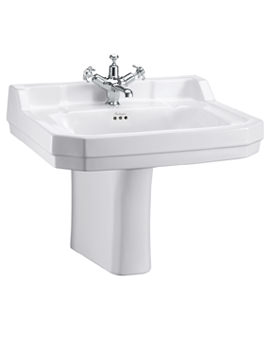 Burlington Edwardian 610mm Basin With Semi Pedestal