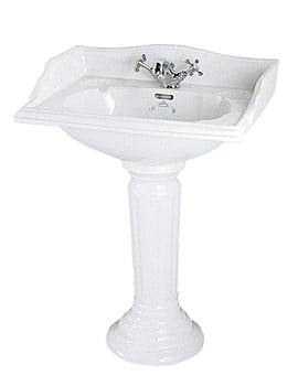 Imperial Oxford Square Large Basin 635mm And Pedestal