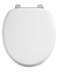 Burlington White Toilet Seat Bar Hinge