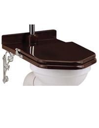 Burlington Mahogany Throne Toilet Seat