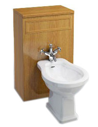 Burlington Bidet Unit Oak 500 x 300 x 810mm
