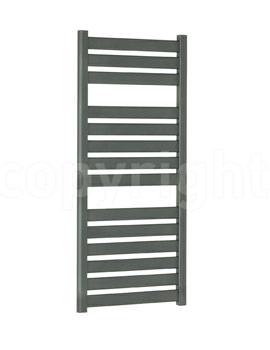 Bauhaus Edge 500x1150mm Straight Anthracite Flat Panel Towel Rail
