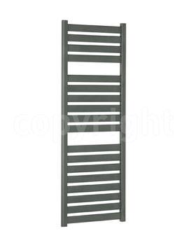 Bauhaus Edge 500x1420mm Straight Anthracite Flat Panel Towel Rail