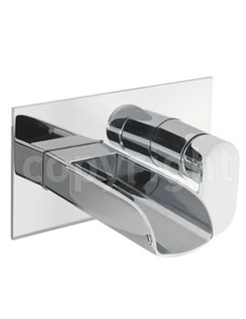 Crosswater Love Me Wall Mounted 2 Hole Basin Tap Chrome