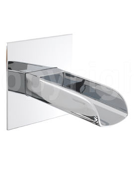 Crosswater Love Me Wall Mounted Waterfall Bath Spout Chrome
