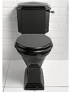 Imperial Astoria Deco Black Close Coupled Toilet