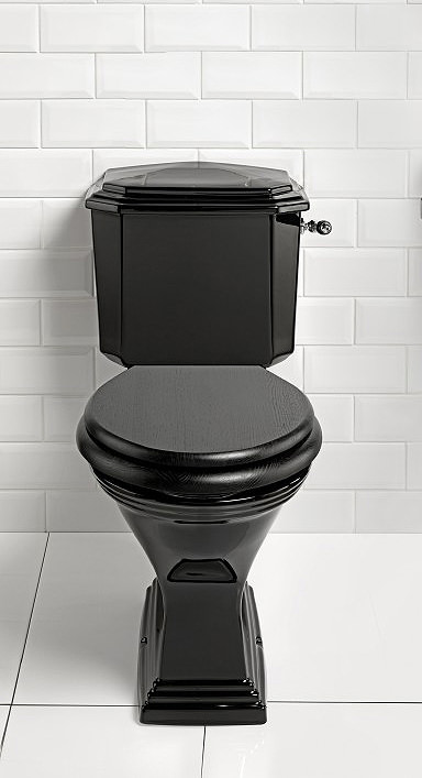 Imperial Astoria Deco Black Finish Close Coupled Toilet