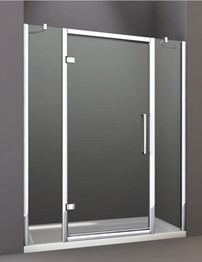 Merlyn 8 Series Hinge Door And Double Inline Panel 1100mm