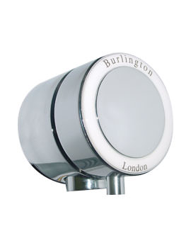 Burlington Chrome Overflow Filler For Single Ended Bath