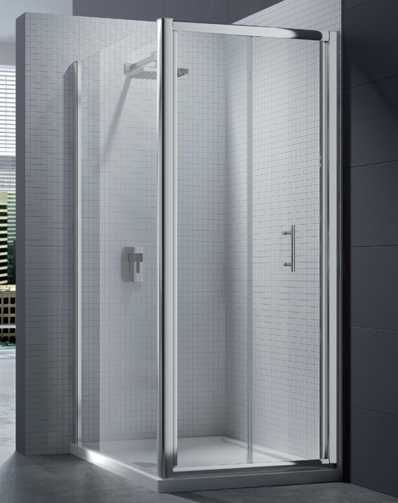merlyn 6 series 4mm clear glass bi fold shower door 700mm