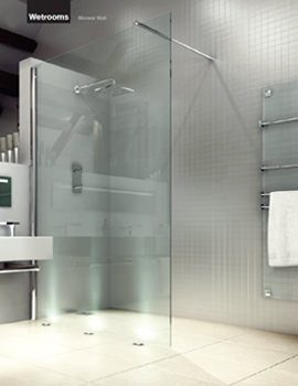 Merlyn 8 Series Wetrooms Clear Glass Shower Wall 1000mm