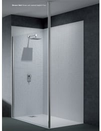 Merlyn 6 Series Wetroom Shower Panel 800mm With Vertical Pole