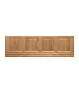 Imperial Raised And Fielded Bath Front Panel 1800mm Natural Oak