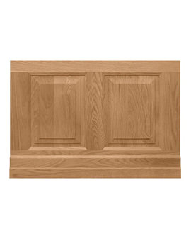 Imperial Raised And Fielded Bath End Panel 780mm Natural Oak