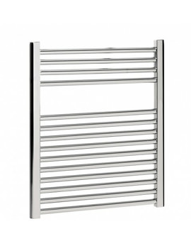 Bauhaus Design 500 x 690mm Flat Panel Chrome Towel Rail