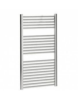 Bauhaus Design 500 x 1110mm Flat Panel Chrome Towel Rail
