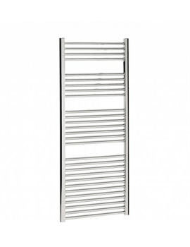 Bauhaus Design 500 x 1430mm Flat Panel Chrome Towel Rail