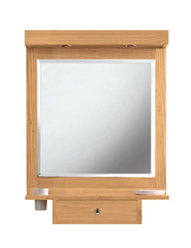Imperial Linea Mirror With Shaker Light Pelmet And Shelf With Drawer