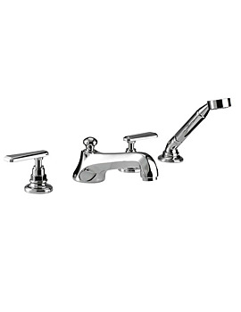 Imperial Poulie 4 Hole Bath Filler Tap With Handset