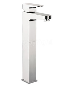 Crosswater Modest Monobloc Tall Basin Mixer Tap Chrome