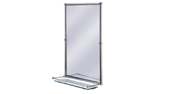 Rectangular Mirror With Shelf