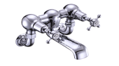 Claremont Wall Mounted Bath Filler Tap