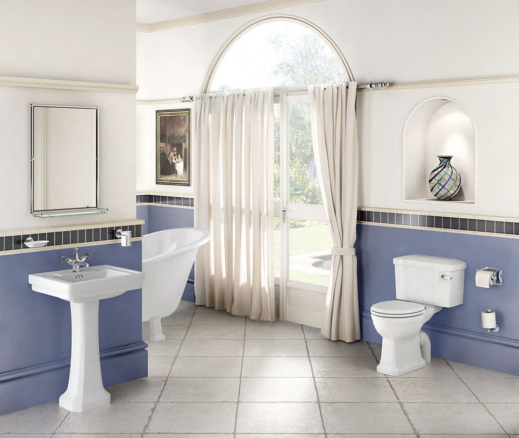 Burlington contemporary bathroom suite for Bathroom suites