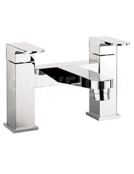 Crosswater Modest Deck Mounted Bath Filler Tap Chrome