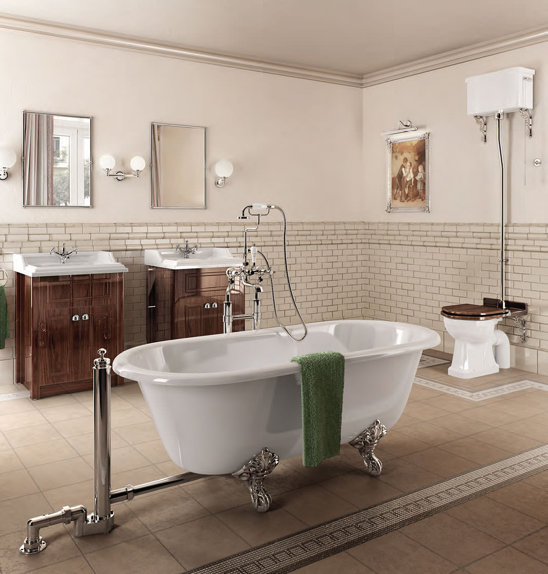 Burlington classic bathroom suite for Small victorian bathroom design