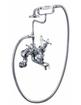 Burlington Claremont Angled Bath Shower Mixer Tap Wall Mounted