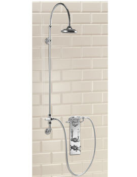 Trent Concealed Theromostatic Shower Valve With Vertical Riser And Rose