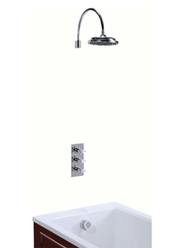 Clyde Concealed Thermostatic Shower Valve With Curved Arm And Rose