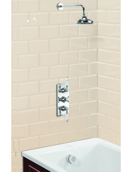 Clyde Concealed Thermostatic Shower Valve With Straight Arm And Rose