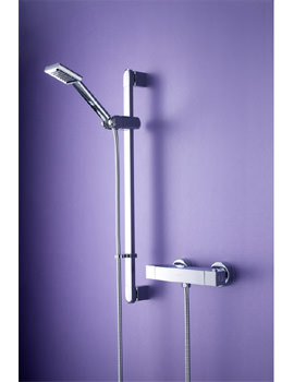 Bristan Quadrato Thermostatic Bar Shower Valve With Adjustable Riser