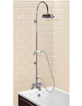Wall mounted Bath Shower Mixer With Curved Shower Arm - 9in Rose