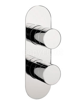 Crosswater Central Recessed Thermostatic Shower Valve - Portrait