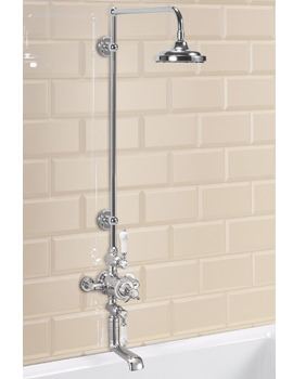 Avon Exposed Thermostatic Shower Valve With Spout And Straight Arm