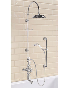 Avon Exposed Shower Valve With Spout - Rigid Riser And Curved Arm