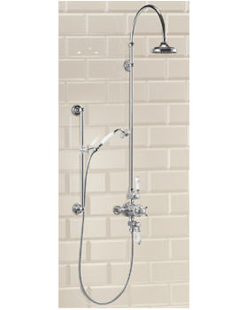 Avon Exposed Thermostatic Valve With Rigid Riser And Straight Arm