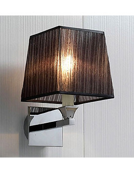 Imperial Astoria Wall Lamp With Black Fabric Shade
