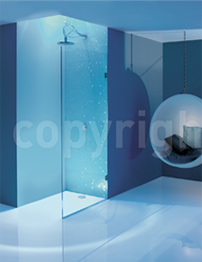 Simpsons Ten 1000mm Single Fixed Shower Panel