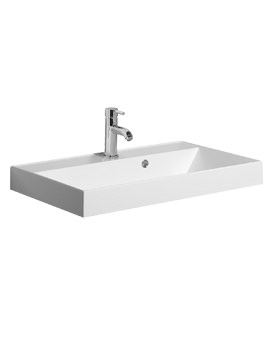 Bauhaus Design 700mm Single Taphole Cast Mineral Marble Vanity Basin